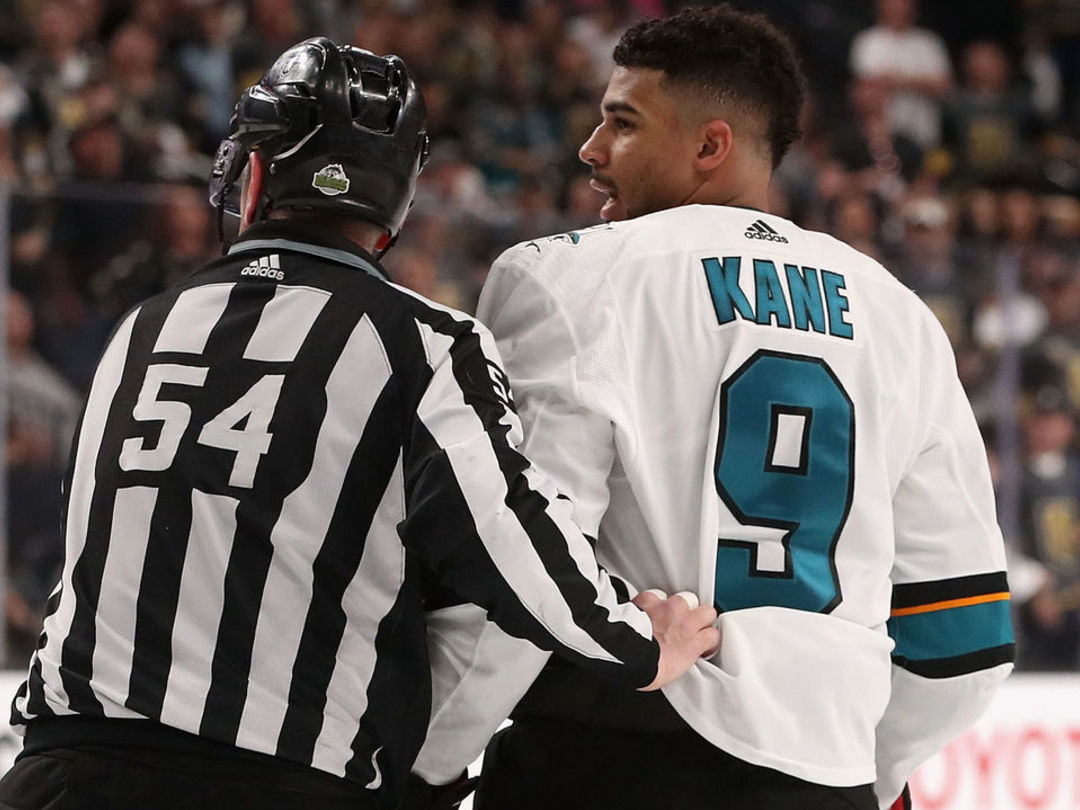 Kane suspended 1 game for cross-checking Bellemare