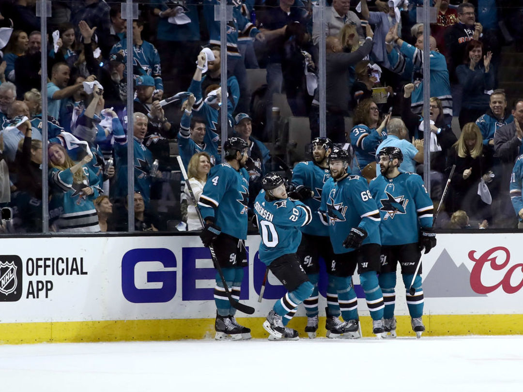 Sharks shut out Golden Knights to even series at 2 games apiece