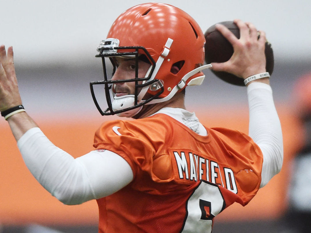 Mayfield throws 3 interceptions during OTAs