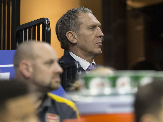 PHILADELPHIA PA - JANUARY 24 General Manager Bryan Colangelo of the Philadelphia 76ers watches the game in the first quarter against the Chicago Bulls at the Wells Fargo Center on January 24 2018 in Philadelphia Pennsylvania The 76ers defeated the Bulls 115-101