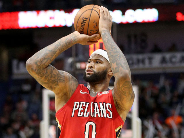 NEW ORLEANS, LA - DECEMBER 27: DeMarcus Cousins #0 of the New Orleans Pelicans in action against the Brooklyn Nets at the Smoothie King Center on December 27, 2017 in New Orleans, Louisiana.