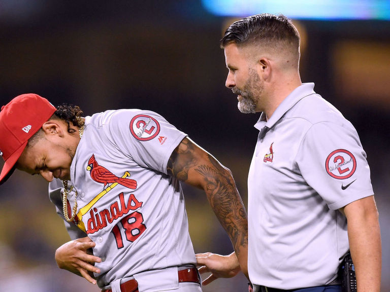 Carlos Martinez takes 110-mph liner to ribs in return from DL