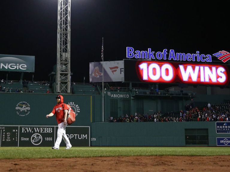Red Sox win 100 games for 1st time since 1946