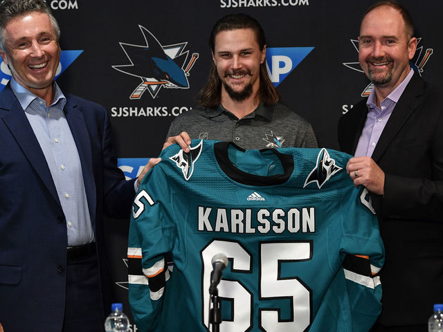 sale retailer 0465e eec6a Karlsson can't sign 8-year extension until after trade ...