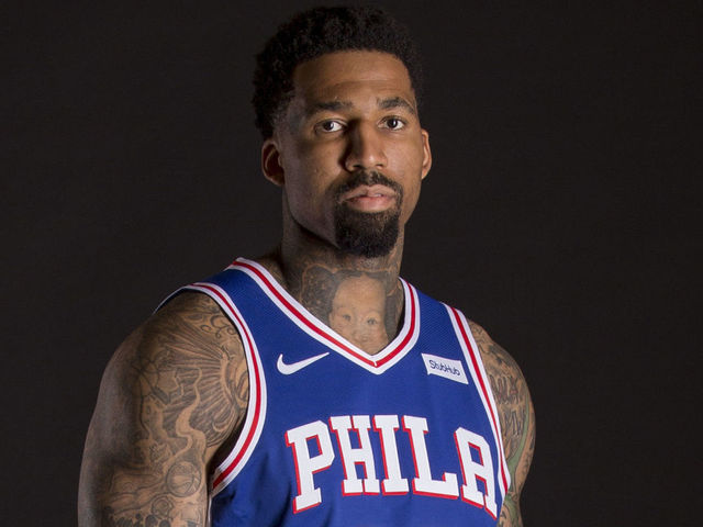 CAMDEN NJ - SEPTEMBER 21 Wilson Chandler 22 of the Philadelphia 76ers poses for a portrait during Media Day at the Sixers Training Complex on September 21 2018 in Camden New Jersey