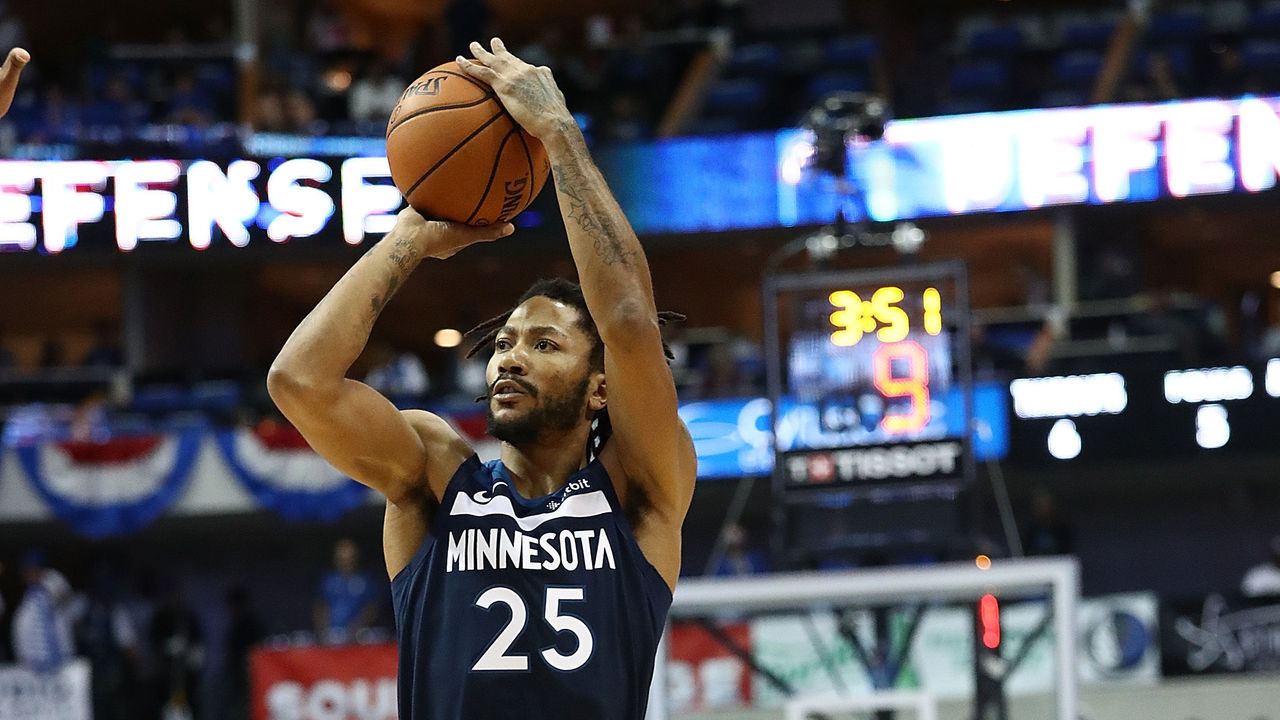 check out 201c5 b8bd0 Look Derrick Rose debuts latest signature sneaker  theScore.