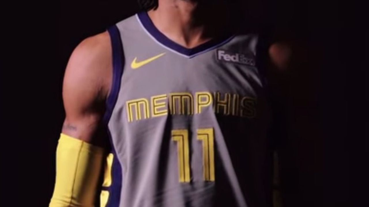 Watch  Grizzlies unveil  Main Event  jersey inspired by city s ... 7f13b6690