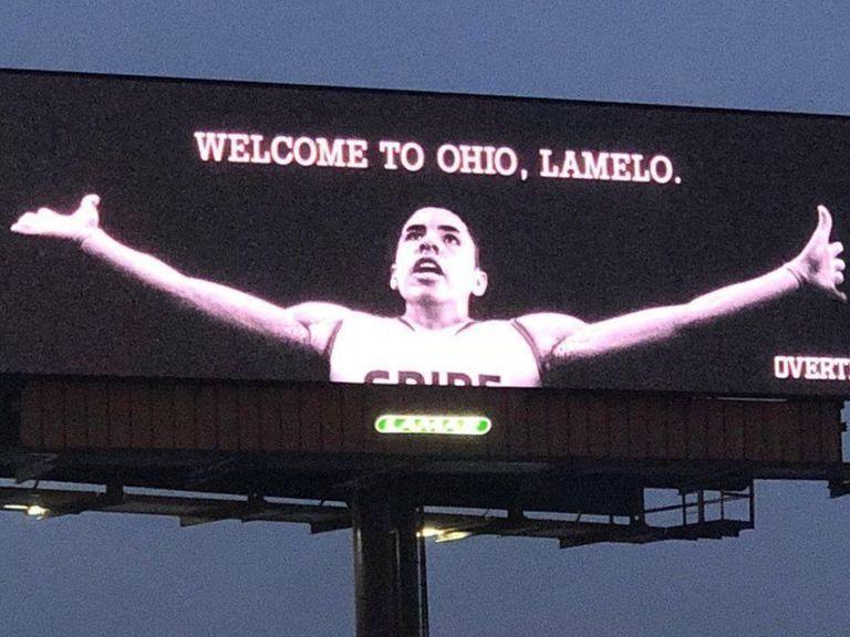 LaMelo Ball billboard appears near Cavs arena