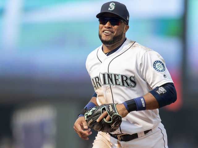 SEATTLE WA - AUGUST 22 Robinson Cano 22 of the Seattle Mariners jogs off the field during a game against the Houston Astros at Safeco Field on August 22 2018 in Seattle Washington The Astros won the game 10-7