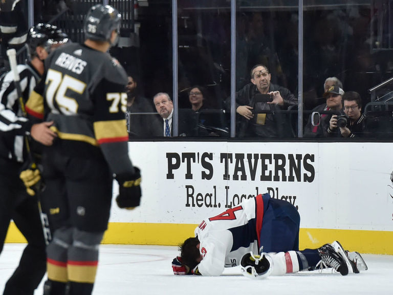 Golden Knights' Reaves ejected for blindside hit on Wilson