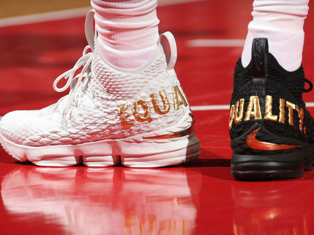 sale retailer 3d1da 48d95 Nike to release new version of LeBron's 'Equality' sneakers ...
