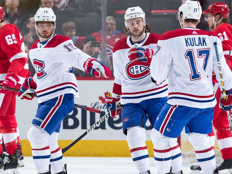 Domi's 5-point night leads Canadiens to 8-1 rout of Red Wings