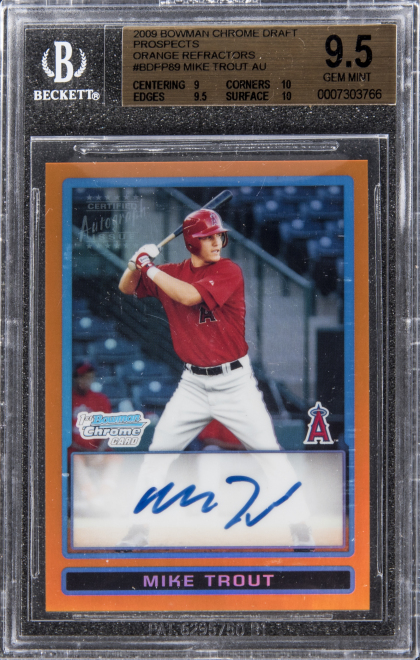 Mike Trout Rookie Card Sells For Over 186k At Auction Thescorecom