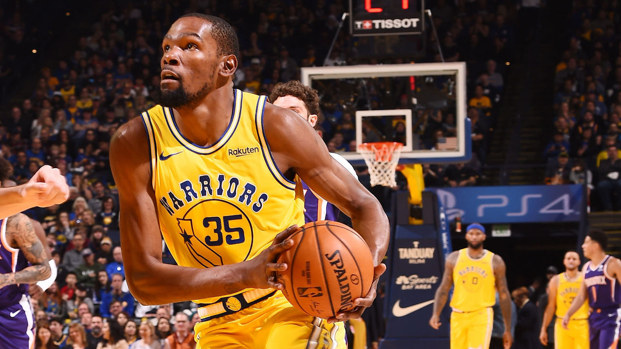eb282cde4c7 Warriors  Durant exits loss to Suns with ankle injury