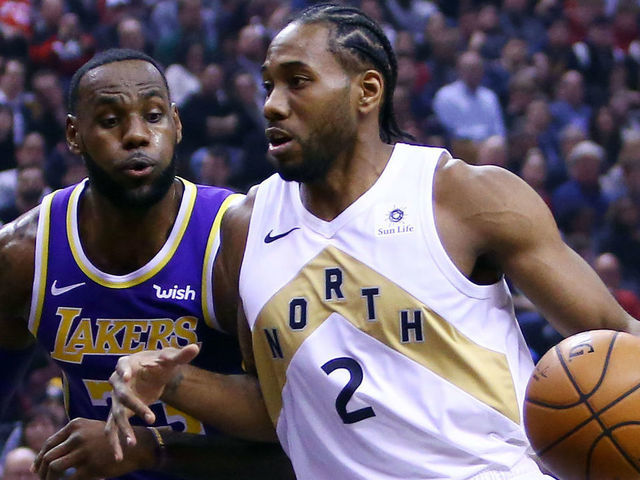 d7f1e43ebf1 Kawhi drops 25 on Lakers to lead Raptors to victory