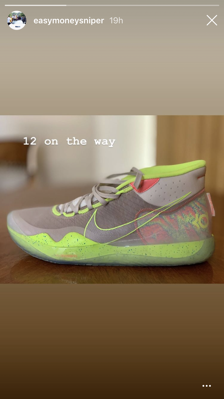 huge selection of 8617e 45ce4 After photos of the Nike KD 12 leaked online earlier this week, the Golden  State Warriors star shared an official first look at the shoe in his  Instagram ...