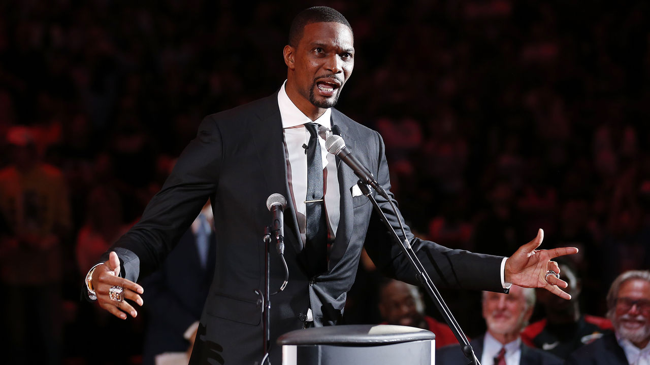d4f189915a0 Watch: Bosh gives memorable speech during jersey retirement ceremony |  theScore.com