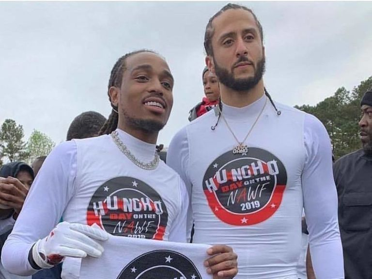 Flipboard colin kaepernick and gucci mane showed out at quavo s 2nd annual huncho day celebrity for Celebrity sneaker watch sole collector