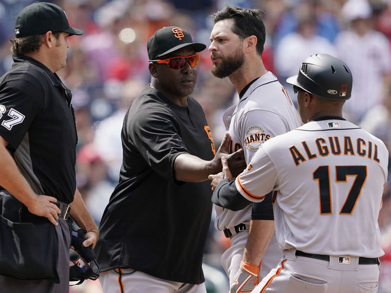 Giants' Belt after ejection: 'Something has to be done' about umpire