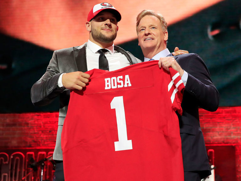 49ers take Nick Bosa with No. 2 pick in draft