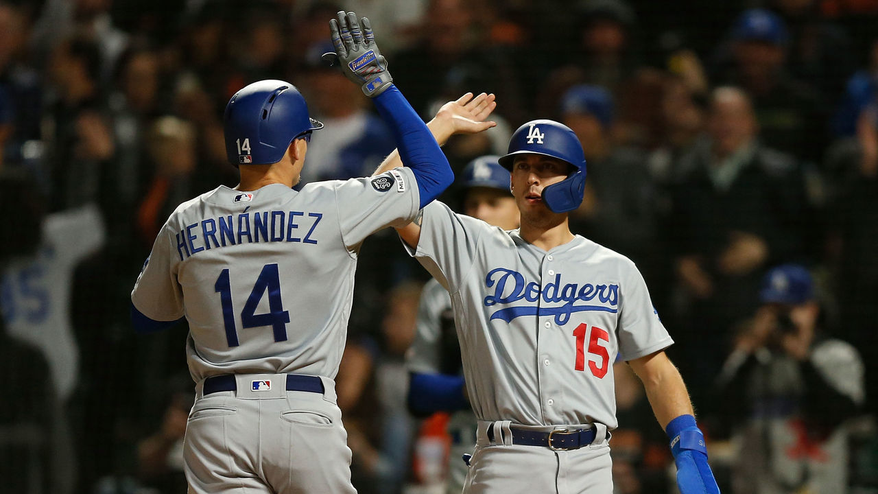 1ebd07ed6 Dodgers beat Giants to become 1st team to 20 wins