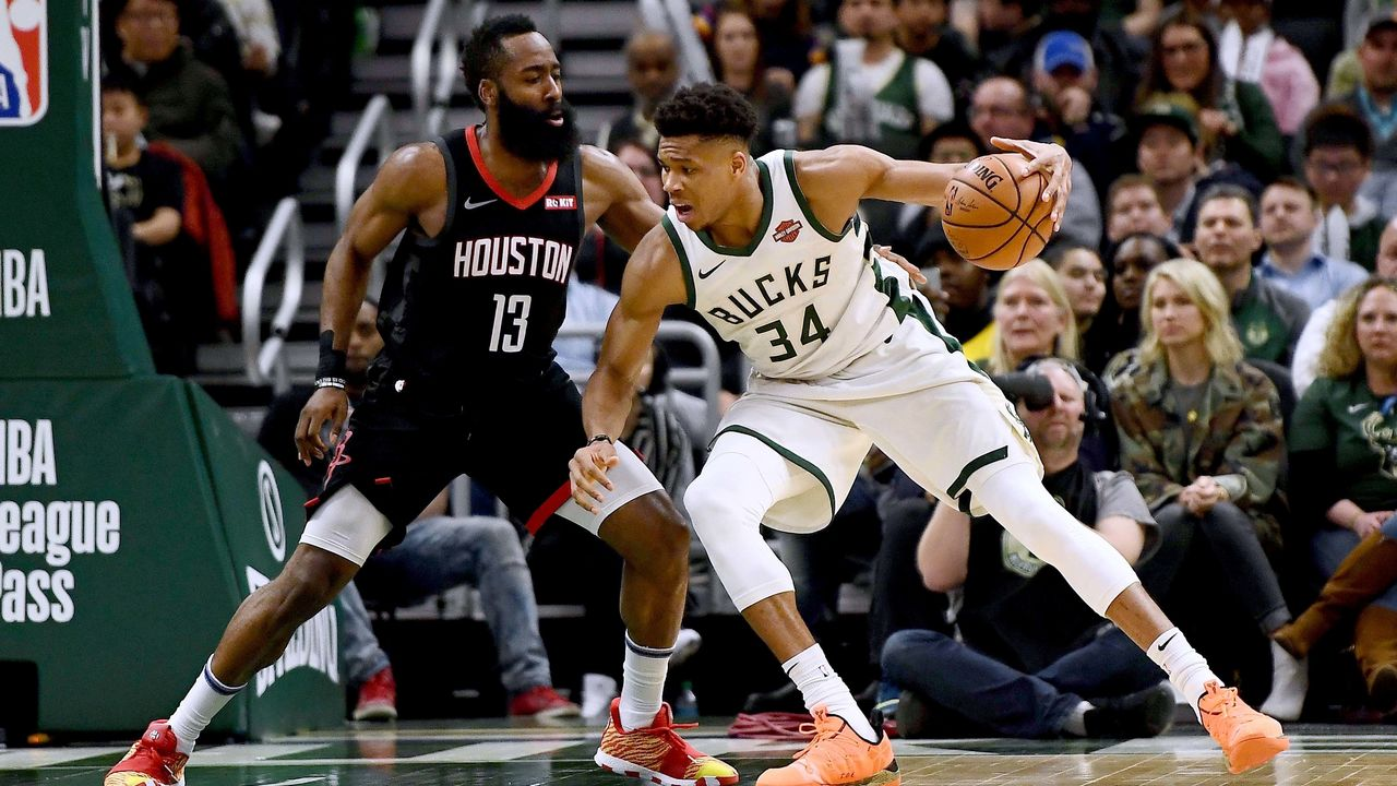 newest e38f4 ff785 Giannis, Harden, George finalists for NBA Most Valuable Player