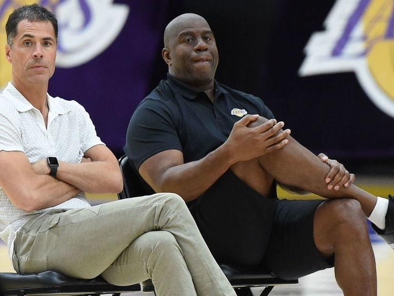 Magic slams Pelinka, Lakers; says last straw was inability to fire Walton
