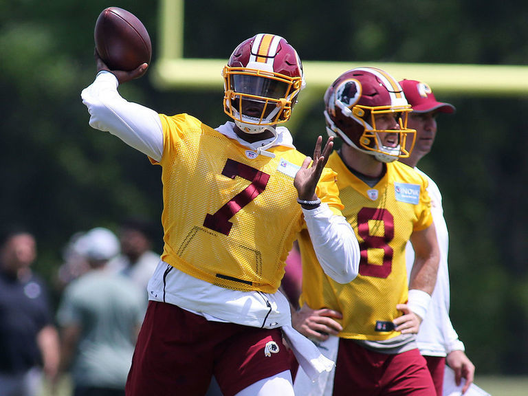 Gruden giving 'wild card' Haskins chance to win QB battle