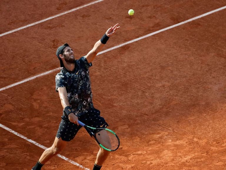 Khachanov downs Del Potro to book ticket to French Open quarterfinals