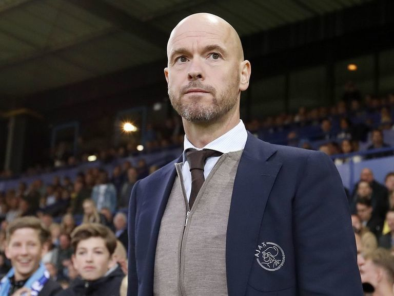 Ajax sign manager Erik ten Hag to new 3-year contract
