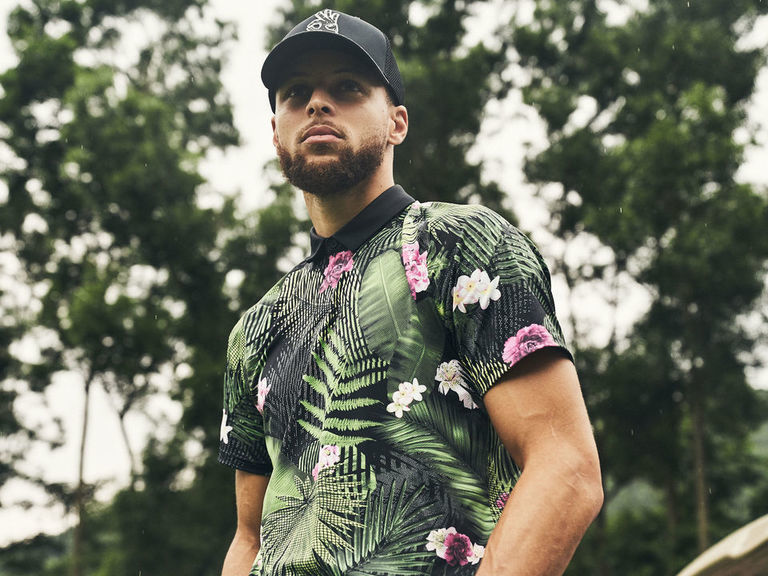 Curry, Under Armour unveil new line of golf apparel