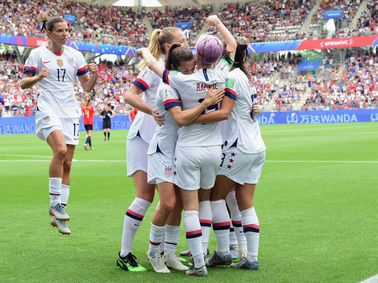 USWNT into World Cup quarters with nervy win over Spain