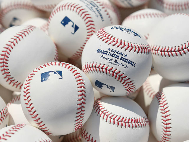 CHICAGO ILLINOIS - JULY 13 A detailed view of baseballs during batting practice prior to the start of the game between the Chicago Cubs and the Pittsburgh Pirates at Wrigley Field on July 13 2019 in Chicago Illinois