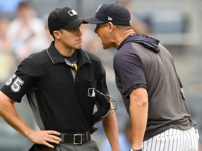Watch: Boone shreds rookie ump after ejection