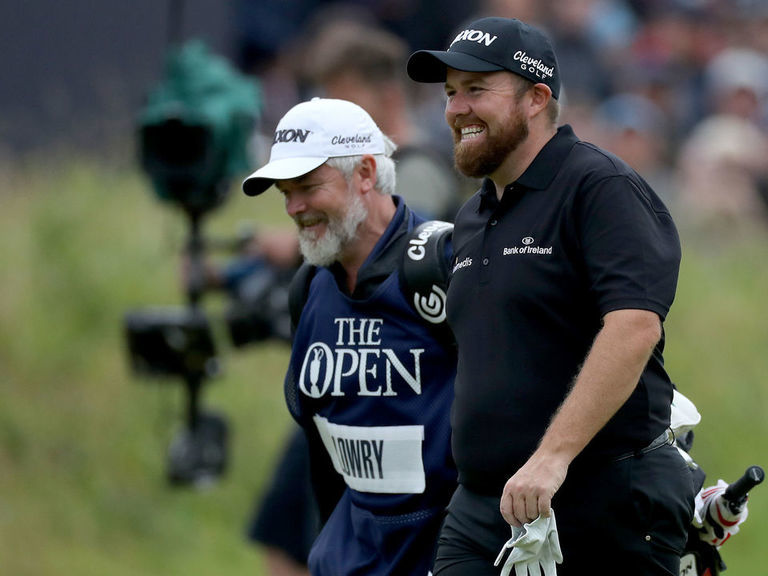 Lowry, Holmes share 36-hole lead at the Open Championship
