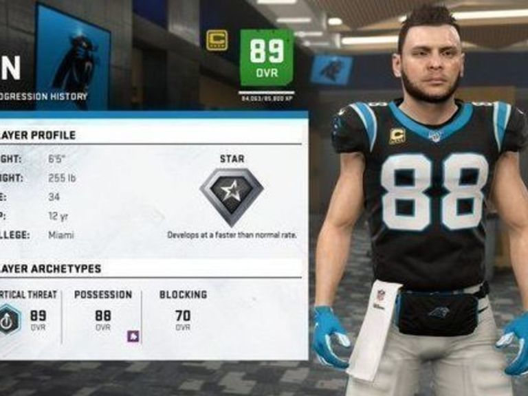 Panthers' Olsen explains why his Madden face looks nothing like him