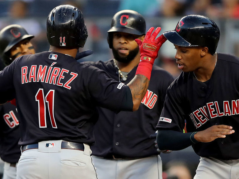 Indians make early statement with 7-run 1st inning vs. Yankees