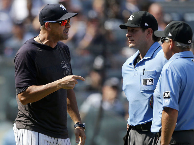 Several Yankees tossed in testy inning vs. Indians