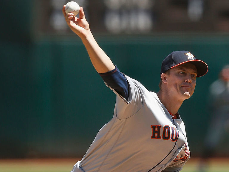 Greinke gets 200th career win, pitches Astros past A's