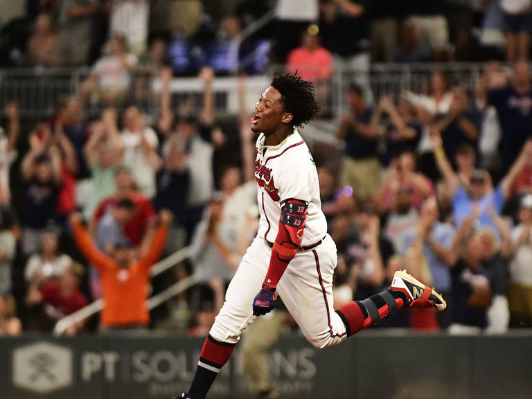 Acuna leaves Braves teammates in awe after monster year vs. Marlins