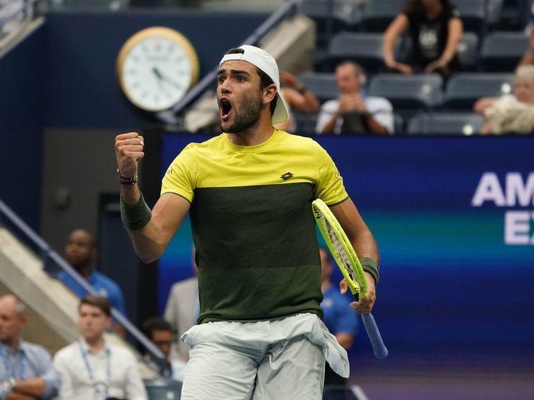 Berrettini becomes 1st Italian man to make US Open semifinals since 19