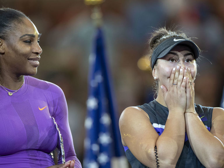 Andreescu authors history, overcoming Serena and that New York wall of