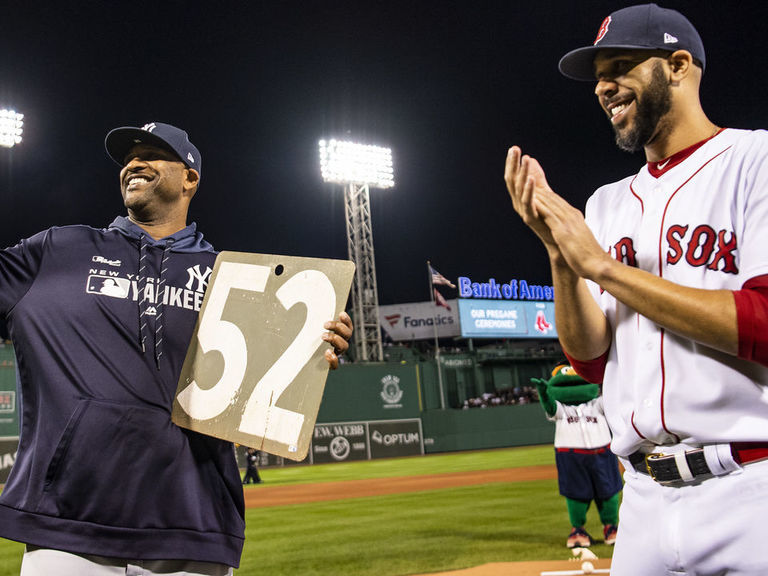 Watch: Red Sox honor Sabathia with No. 52 from Green Monster
