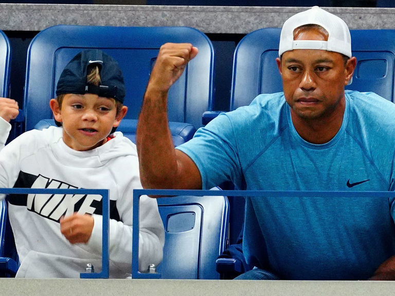 Tiger's son roasted JT at Augusta: 'Look, it's the guy who can't putt'