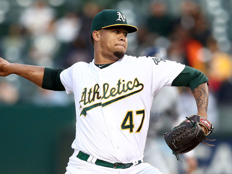 Athletics reinstate Montas from PED suspension amid wild-card race