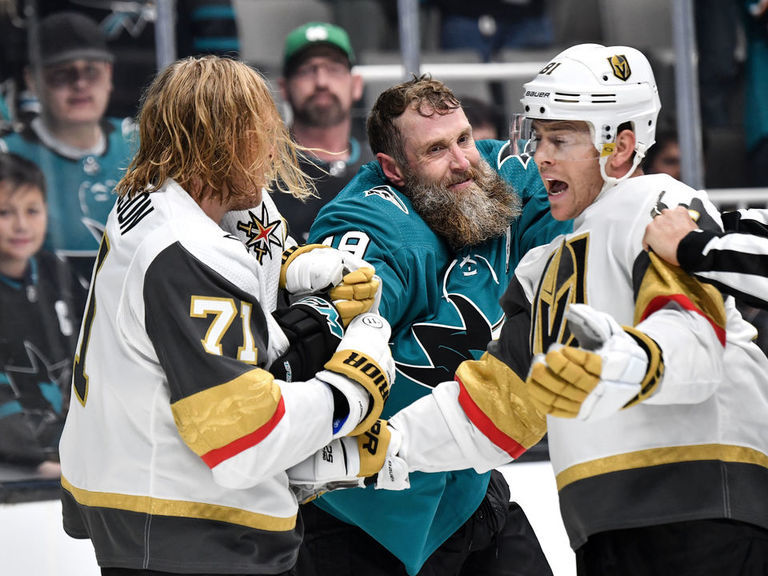 Tensions boil over late in 3rd period between Sharks, Golden Knights
