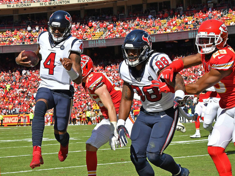 Chiefs drop 2nd straight game after being outdueled by Texans
