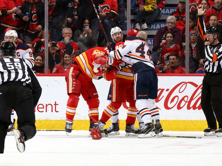 Report: NHL warns Flames, Oilers; Parros expected to attend rematch
