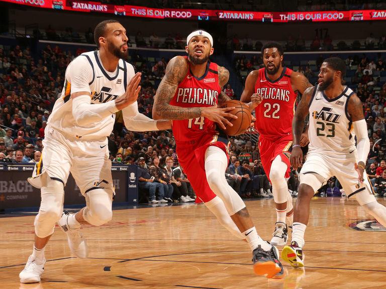 Pelicans end Jazz's winning streak in wild finish