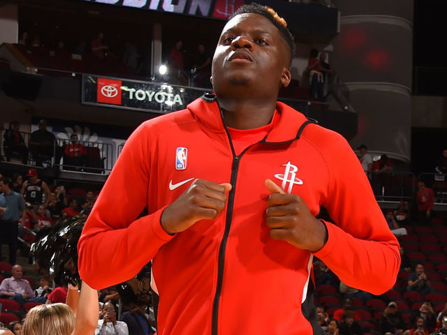 HOUSTON TX - JANUARY 15 Clint Capela 15 of the Houston Rockets works out prior to a game against the Portland Trail Blazers on January 15 2020 at the Toyota Center in Houston Texas Mandatory Copyright Notice Copyright 2020 NBAE